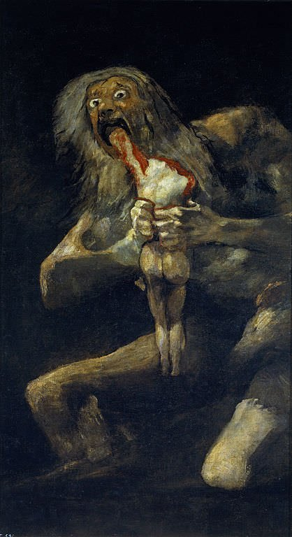 Saturn Devouring His Son (1823) - Francisco Goya