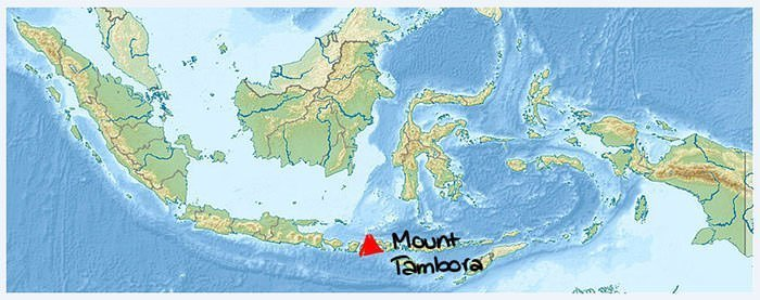 Mount Tambora location