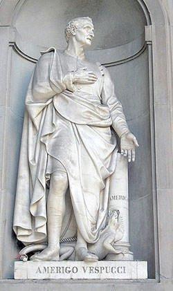 Amerigo Vespucci Statue in Florence