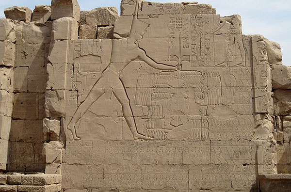 Battle of Megiddo Relief in Karnak Temple