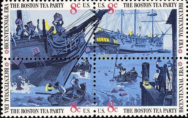 Boston Tea Party Postage stamp