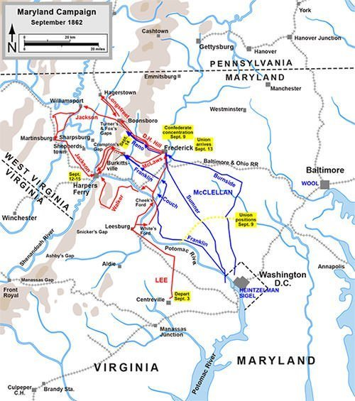 Maryland Campaign Map