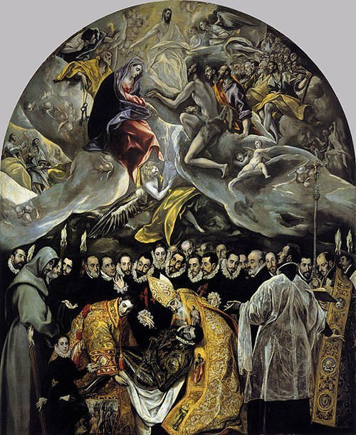The Burial of the Count of Orgaz (1588) - El Greco