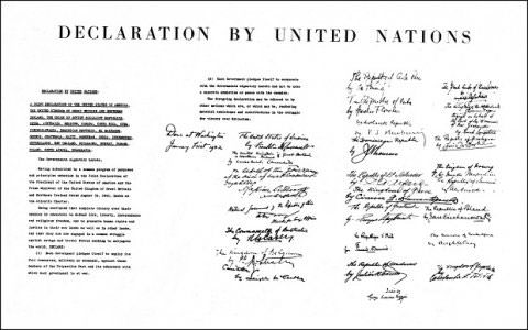 1942 Declaration of The United Nations