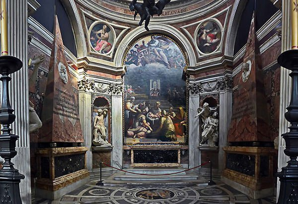 Chigi Chapel in Rome (designed by Raphael)