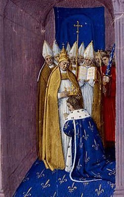 Coronation of Pepin the Short depiction