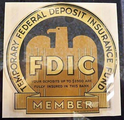 Federal Deposit Insurance Corporation sign