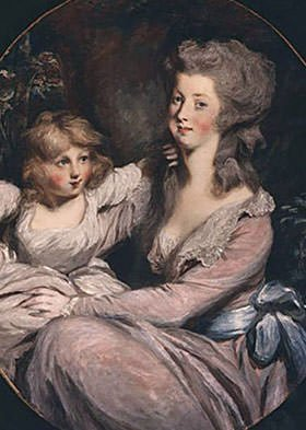 Peggy Shippen Arnold and her daughter Sophia