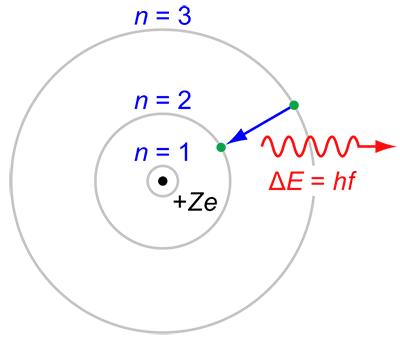 Bohr's model of the atom diagram