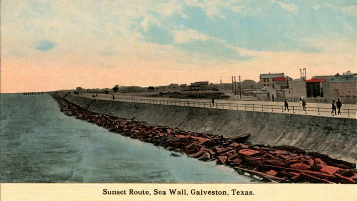 Galveston Seawall, 1907