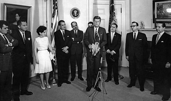 John F. Kennedy at Alliance for Progress meeting