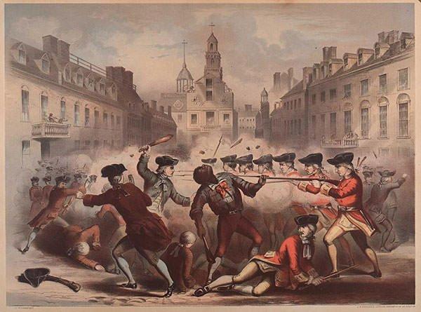 Depiction of the Boston Massacre