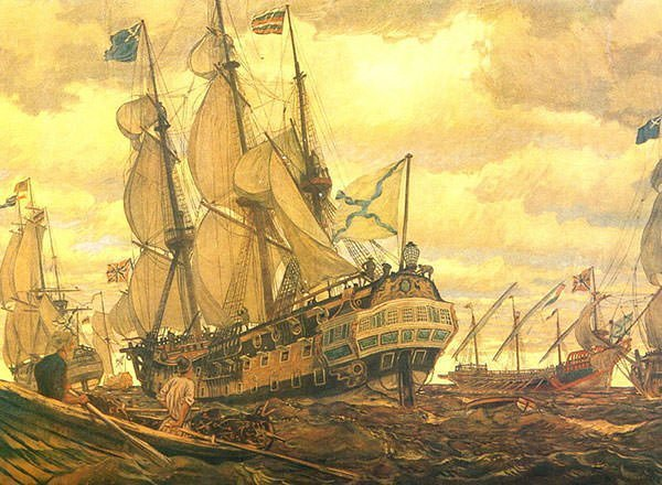 Painting of the Fleet of Peter the Great