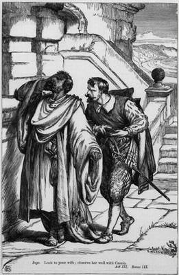 Othello and Iago in Act III, Scene III