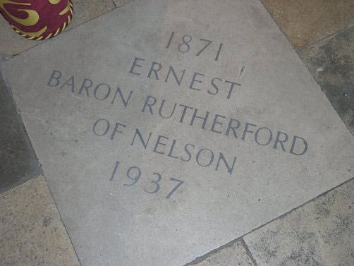 Grave of Ernest Rutherford