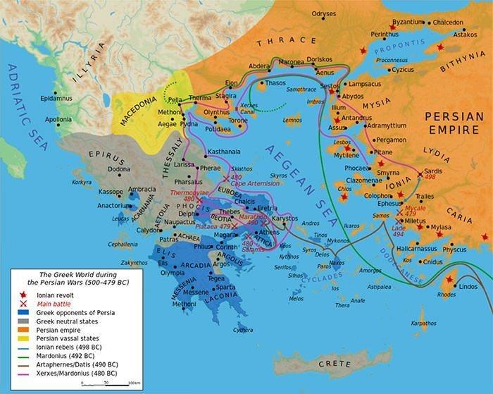 Greek world during Greco-Persian Wars