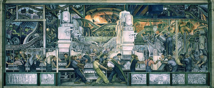 Part of the Detroit Industry mural