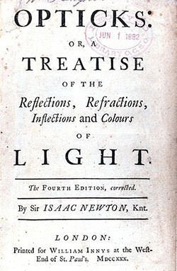 Title Page of Isaac Newton's Opticks