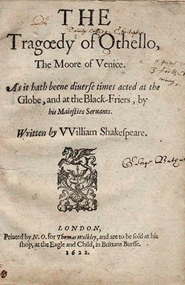 Othello (1622) - Title Page
