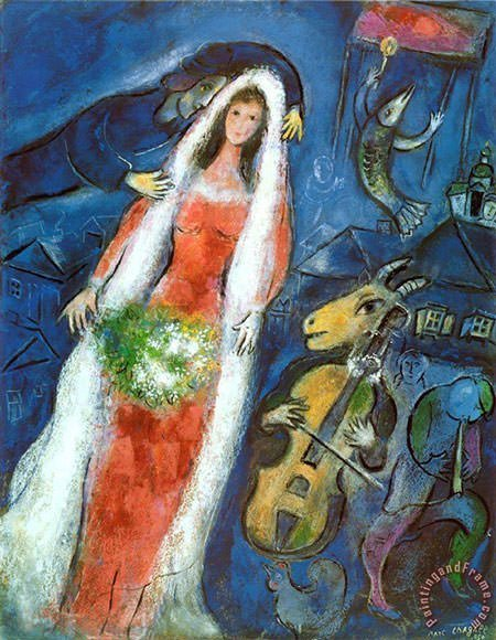 La Mariee (1950) - Marc Chagall