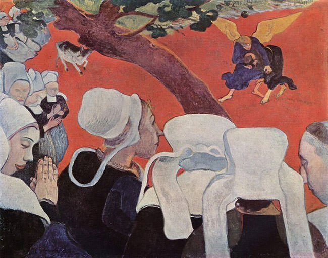Vision After the Sermon (1888) - Paul Gauguin