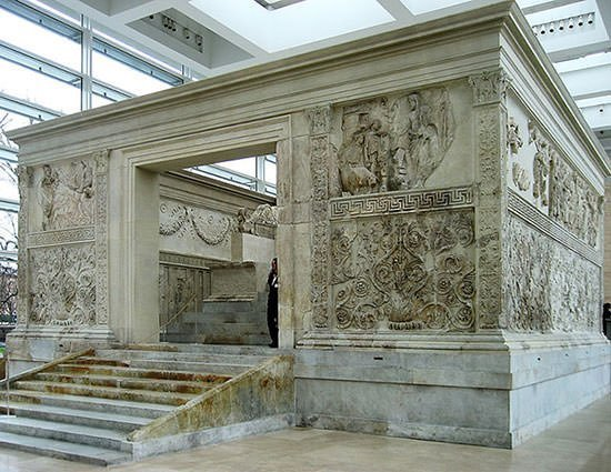 Ara Pacis, altar built in Augustan era, dedicated to Pax, the Roman goddess of Peace