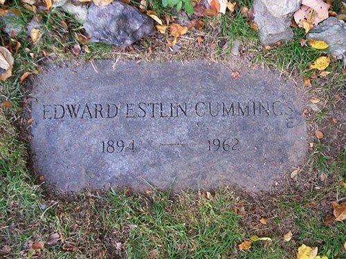 E. E. Cummings Grave