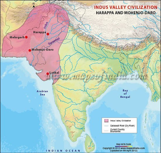 Indus Valley Civilization Map