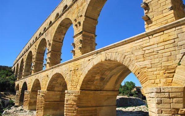 Close Up of Pont du Gard