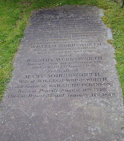 Gravestone of William Wordsworth