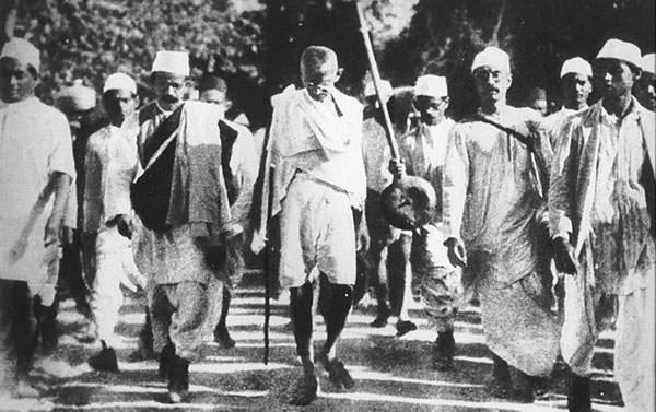 Mahatma Gandhi during the Salt March