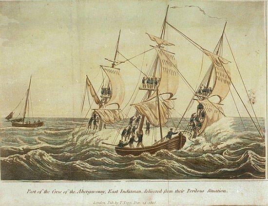 Earl of Abergavenny sinking