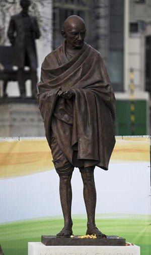 Mahatma Gandhi statue in London