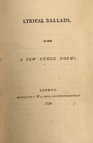Lyrical Ballads title page