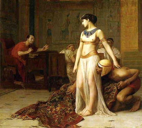 Painting of Cleopatra and Caesar