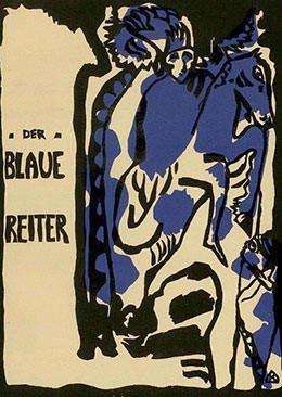 Cover of 1912 Der Blaue Reiter almanac