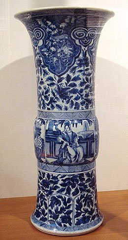 Blue and white porcelain from Qing era
