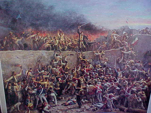 Depiction of the Battle of the Alamo