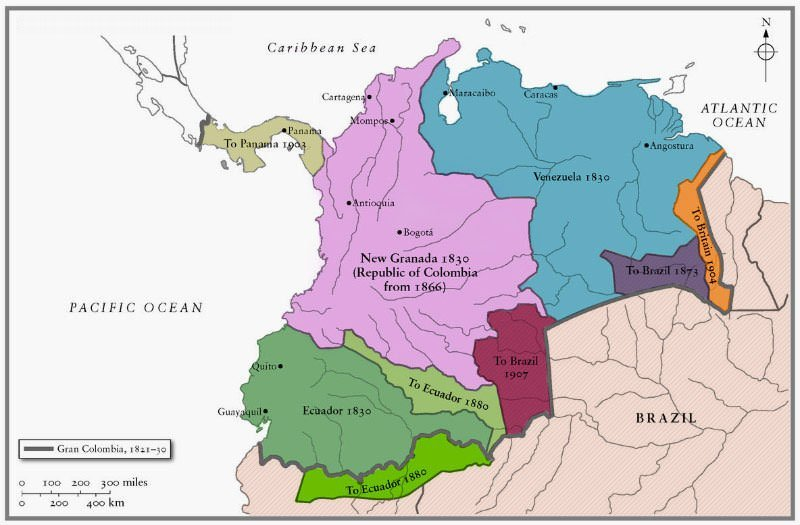 Gran Colombia Map