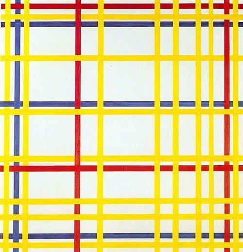 New York City I (1942) - Piet Mondrian