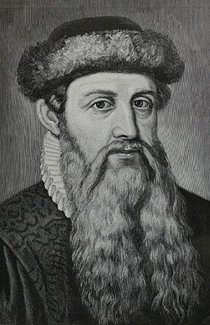 Johannes Gutenberg portrait