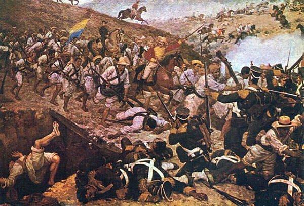 Painting of The Battle of Boyaca
