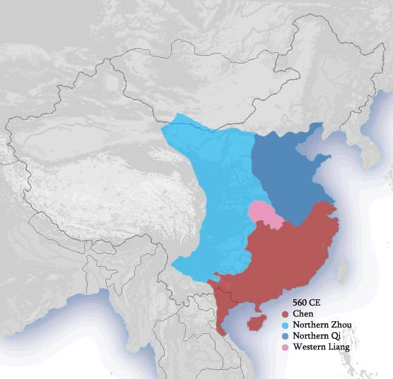 Northern and Southern dynasties Map