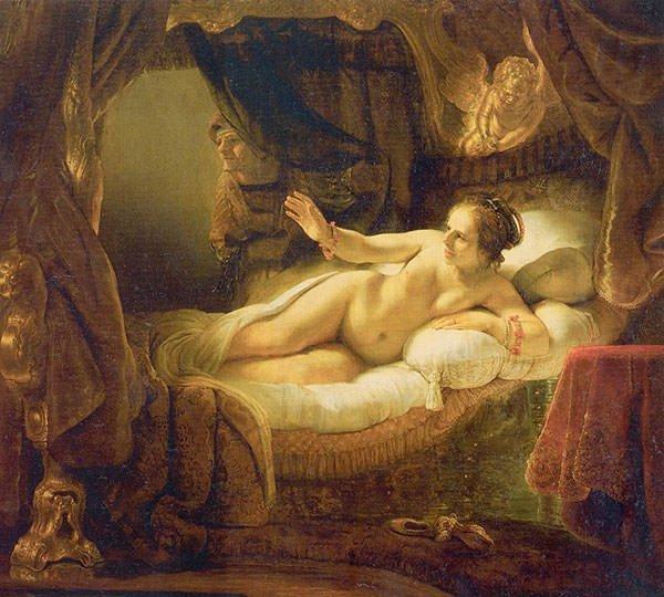 Danae (1636) - Rembrandt van Rijn