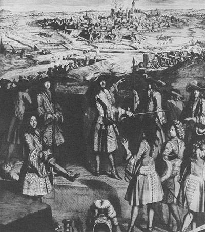 Depiction of Louis XIV at the Siege of Mons