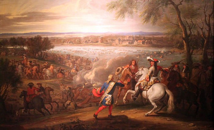 Depiction of Louis XIV crossing the Rhine