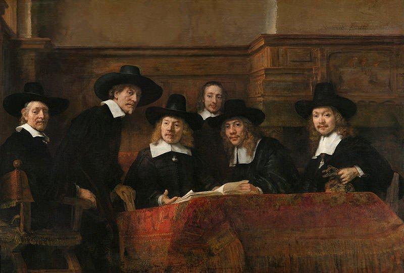 Syndics of the Drapers' Guild (1662) - Rembrandt van Rijn