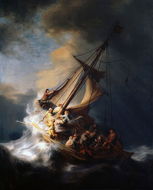 The Storm on the Sea of Galilee (1633) - Rembrandt van Rijn