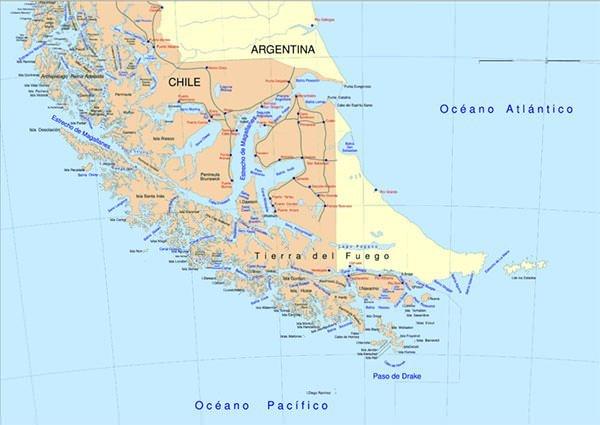 Strait of Magellan or Estrecho de Magallanes