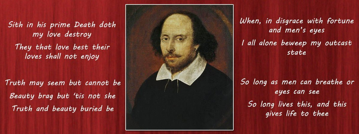 William Shakespeare Famous Poems Featured